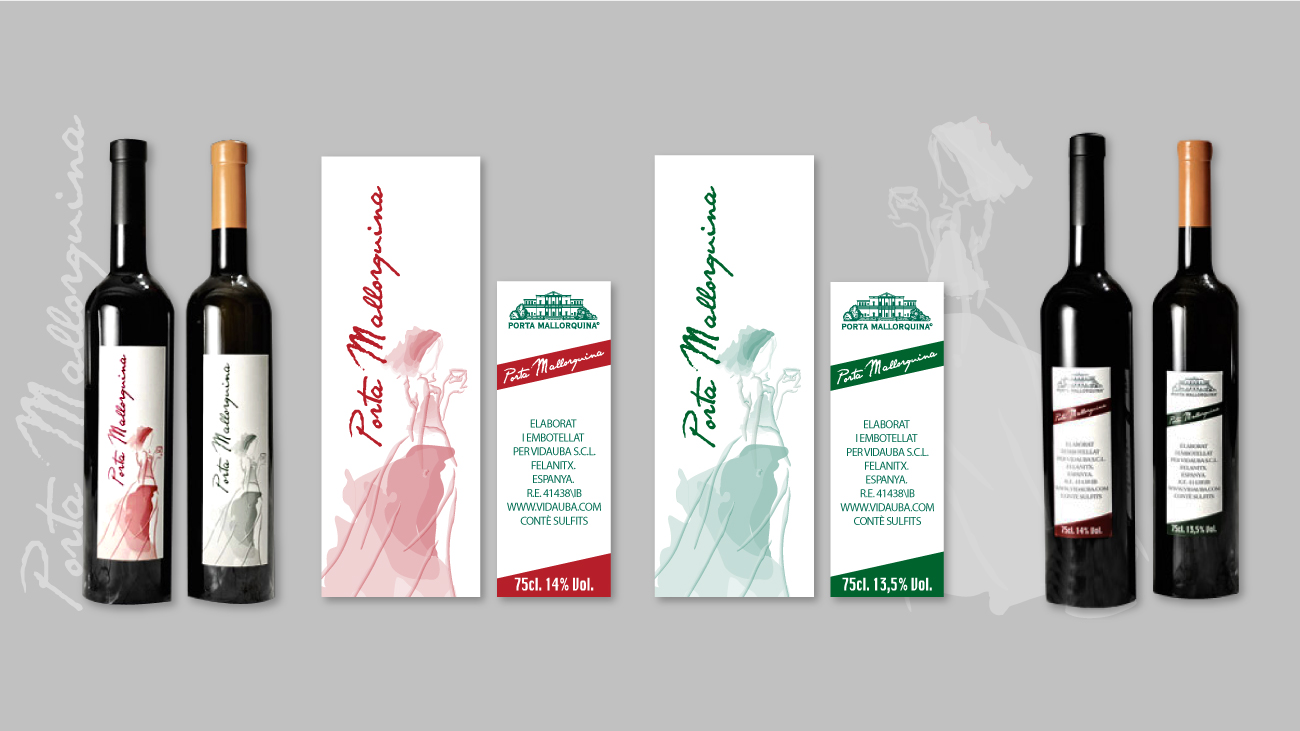 Etikette-fuer-Weinflaschen-gestalten-Porta-Mallorquina