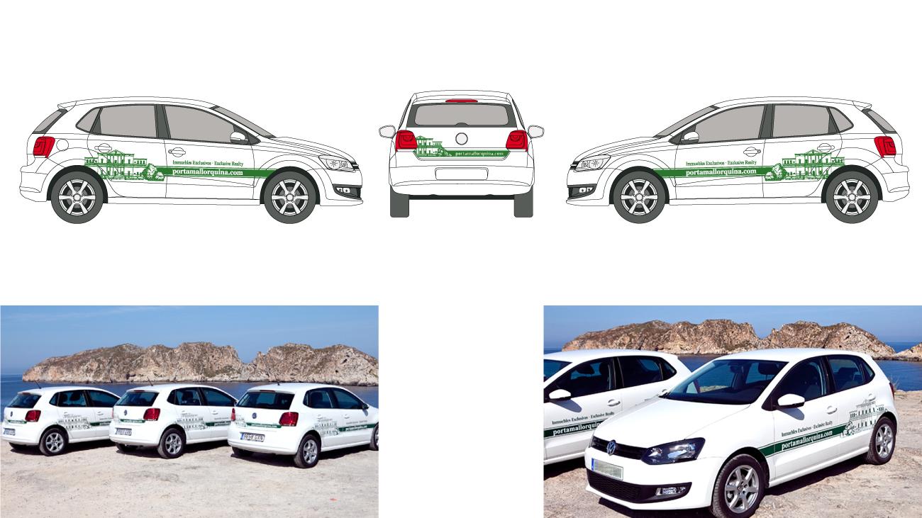 Fahrzeugbeschriftung-Porta-Mallorquina