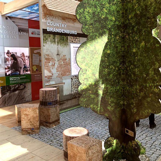 Konzeption und Grafik für Ausstellungen-Smart Country Brandenburg 2019