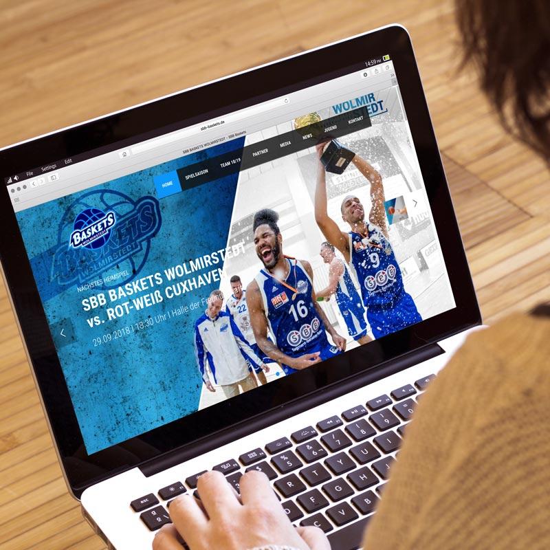 Webseitengestaltung von SBB Baskets Wolmirstedt