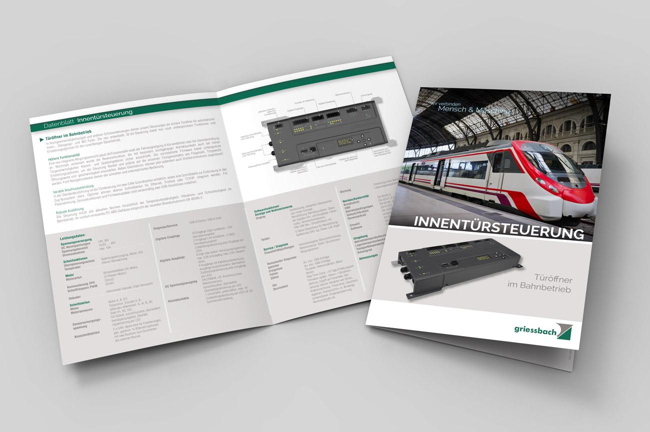 Grafik und Gestaltung Datenblätter und Flyer für Unternehmen - vogelhaus büro für gestaltung Potsdam