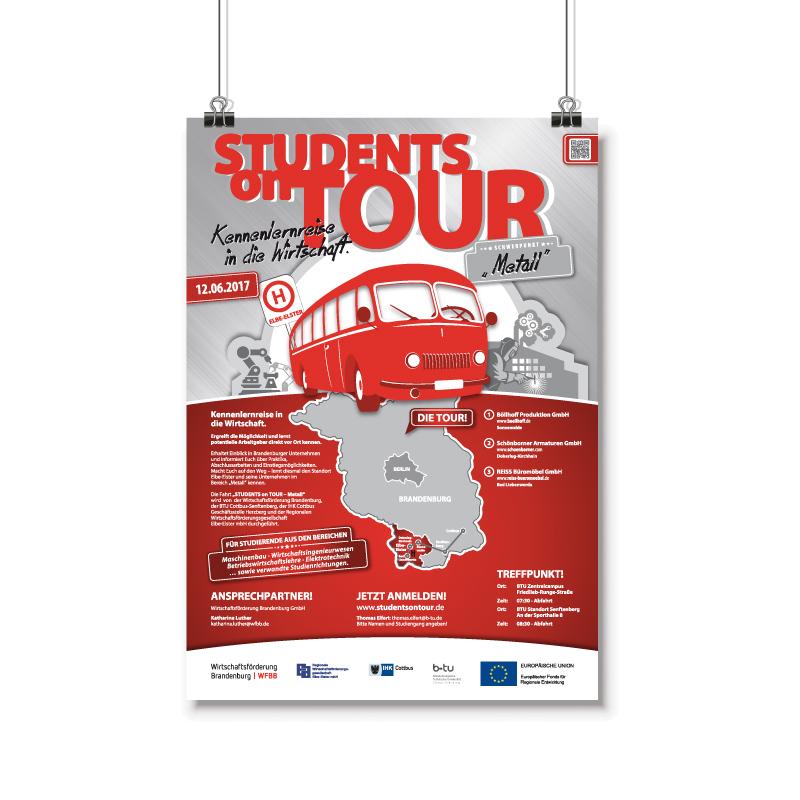 Plakatkampagne gestalten und designen Students on Tour